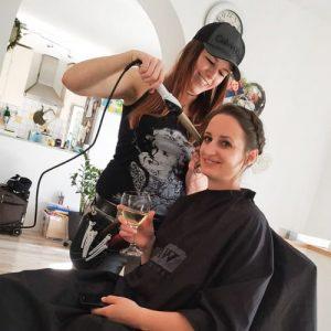 Making-of Brautfrisur